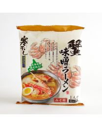 HOKKAIDO Noodle Seafood Crab miso dried noodle Made in HOKKAIDO Free Shipping New Box